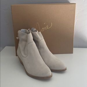 Joie Adria Suede Leather Ankle Boot
